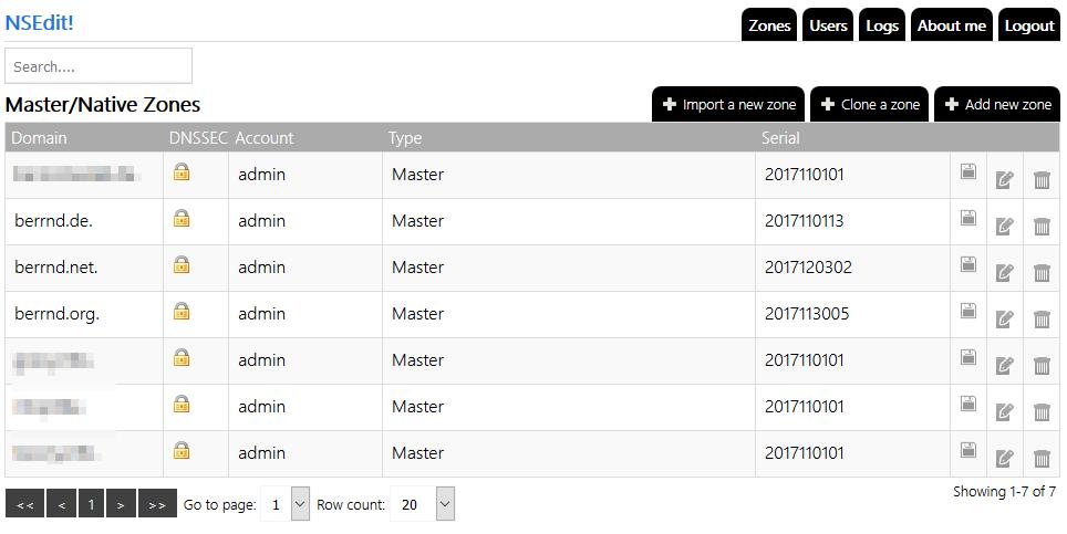 "nsedit Weboberfläche auf ""ns-major.berrnd.net"""